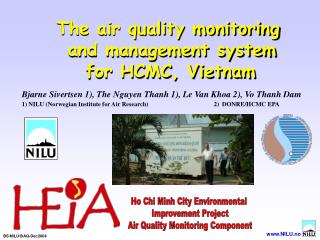 The air quality monitoring  and management system  for HCMC, Vietnam