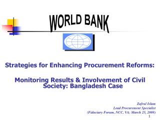 Strategies for Enhancing Procurement Reforms: