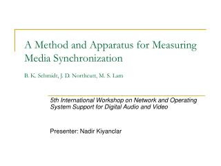 5th International Workshop on Network and Operating System Support for Digital Audio and Video