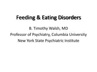 Feeding & Eating Disorders