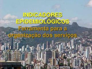 INDICADORES  EPIDEMIOLÓGICOS  Ferramenta para a organização dos serviços