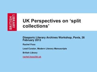 UK Perspectives on �split collections�
