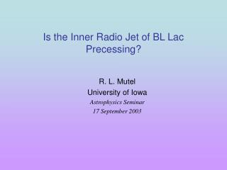 Is the Inner Radio Jet of BL Lac Precessing?