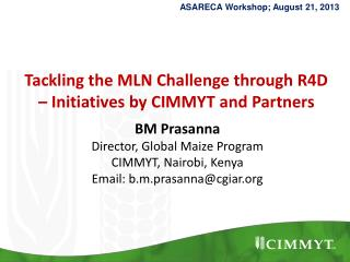 Tackling the MLN Challenge through R4D – Initiatives by CIMMYT and Partners