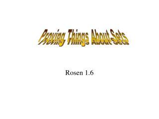 Rosen 1.6
