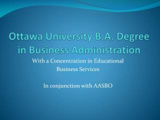 Ottawa University B.A. Degree in Business Administration