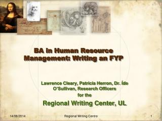 BA in Human Resource Management: Writing an FYP
