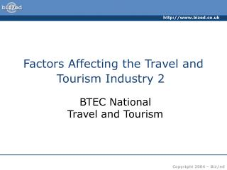 Factors Affecting the Travel and Tourism Industry 2