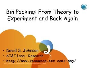 Bin Packing: From Theory to Experiment and Back Again