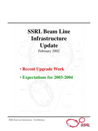 SSRL Beam Line  Infrastructure Update February 2002