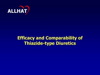 Efficacy and Comparability of Thiazide-type Diuretics
