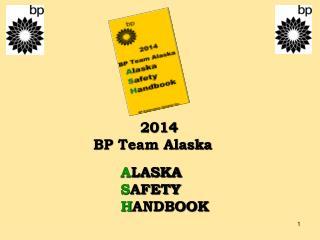 2014 BP Team Alaska A LASKA S AFETY H ANDBOOK