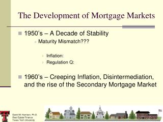 The Development of Mortgage Markets