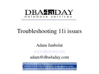 Troubleshooting 11i issues
