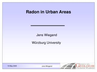 Radon in Urban Areas