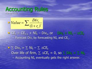 Accounting Rules Finance Drools