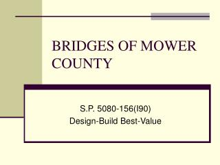 BRIDGES OF MOWER COUNTY