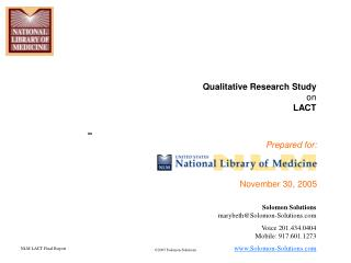 Qualitative Research Study on LACT