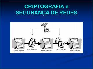 CRIPTOGRAFIA e SEGURAN A DE REDES