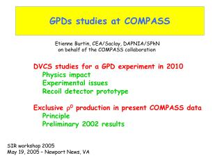 GPDs studies at COMPASS
