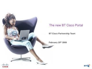 The new BT Cisco Portal