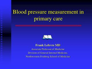 Blood pressure measurement in primary care
