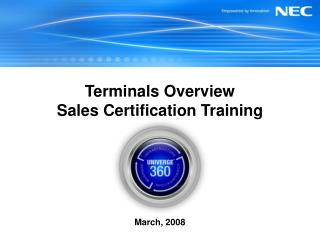 Terminals Overview Sales Certification Training