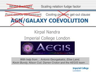 AGN/GALAXY COEVOLUTION
