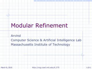 Modular Refinement