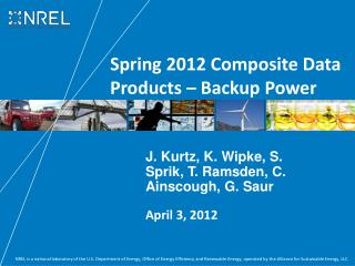 Spring 2012 Composite Data Products – Backup Power