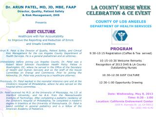 La county NURSE WEEK CELEBRATION & CE EVENT