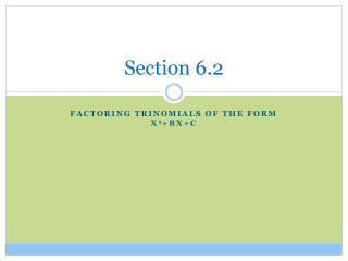 Section 6.2