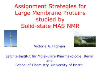 Assignment Strategies for  Large Membrane Proteins studied by  Solid-state MAS NMR
