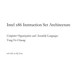 Intel x86 Instruction Set Architecture