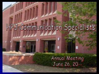 HPJ Communication Specialists