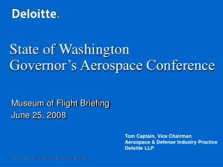 State of Washington Governor's Aerospace Conference