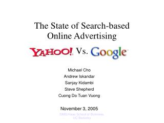 The State of Search-based Online Advertising