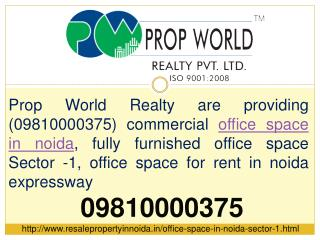 Office Space In Noida Sector-1 09810000375