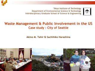Research Goals waste management system & public involvement in the US context learning points