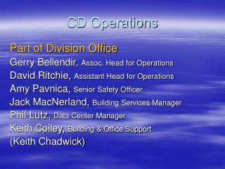 CD Operations