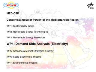 MED-CSP Concentrating Solar Power for the Mediterranean Region  WP1: Sustainability Goals