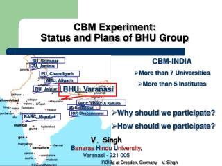 CBM Experiment:  Status and Plans of BHU Group