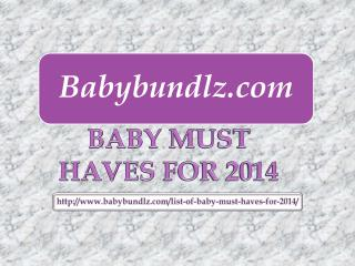 Baby Must Haves 2014