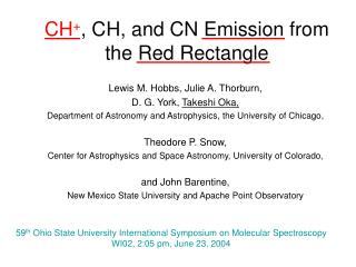 CH + , CH, and CN Emission from the Red Rectangle