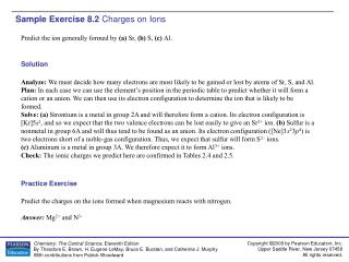 Sample Exercise 8.2  Charges on Ions