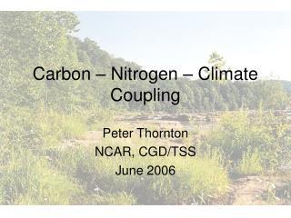 Carbon – Nitrogen – Climate Coupling