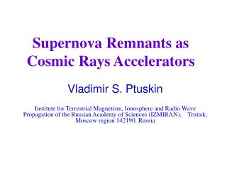 Supernova Remnants as Cosmic Rays Accelerators