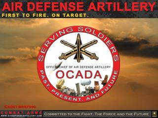 Cadet briefing