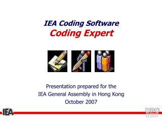 IEA Coding Software Coding Expert