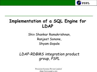 Implementation of a SQL Engine for LDAP